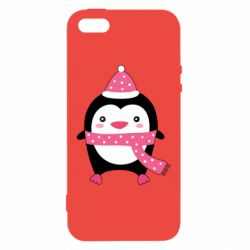 Чехол для iPhone5/5S/SE Cute Christmas penguin