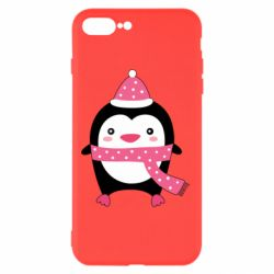 Чехол для iPhone 7 Plus Cute Christmas penguin
