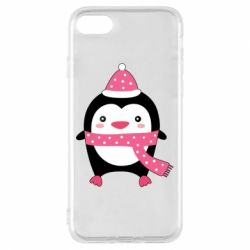 Чехол для iPhone 8 Cute Christmas penguin