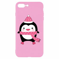 Чехол для iPhone 8 Plus Cute Christmas penguin