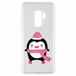 Чехол для Samsung S9+ Cute Christmas penguin