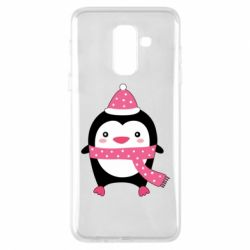 Чехол для Samsung A6+ 2018 Cute Christmas penguin