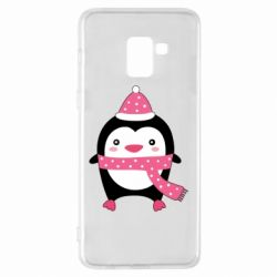 Чехол для Samsung A8+ 2018 Cute Christmas penguin