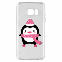 Чехол для Samsung S7 Cute Christmas penguin