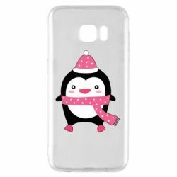 Чехол для Samsung S7 EDGE Cute Christmas penguin