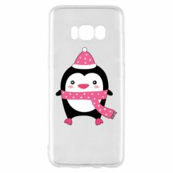 Чехол для Samsung S8 Cute Christmas penguin