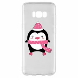 Чехол для Samsung S8+ Cute Christmas penguin