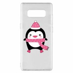 Чехол для Samsung Note 8 Cute Christmas penguin