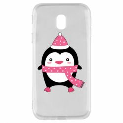 Чехол для Samsung J3 2017 Cute Christmas penguin