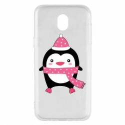 Чехол для Samsung J5 2017 Cute Christmas penguin