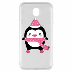 Чехол для Samsung J7 2017 Cute Christmas penguin