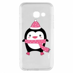 Чехол для Samsung A3 2017 Cute Christmas penguin
