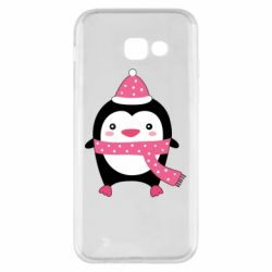 Чехол для Samsung A5 2017 Cute Christmas penguin