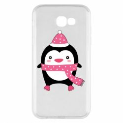 Чехол для Samsung A7 2017 Cute Christmas penguin