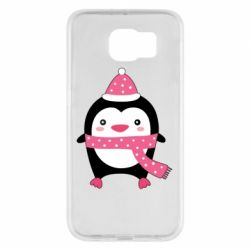 Чехол для Samsung S6 Cute Christmas penguin
