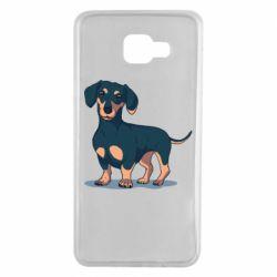 Чехол для Samsung A7 2016 Cute dachshund