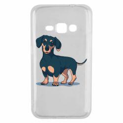 Чехол для Samsung J1 2016 Cute dachshund