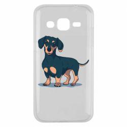 Чехол для Samsung J2 2015 Cute dachshund