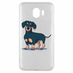 Чехол для Samsung J4 Cute dachshund