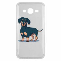 Чехол для Samsung J5 2015 Cute dachshund