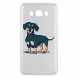 Чехол для Samsung J5 2016 Cute dachshund
