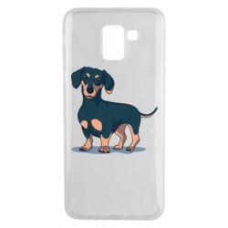 Чехол для Samsung J6 Cute dachshund