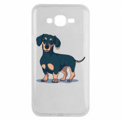 Чехол для Samsung J7 2015 Cute dachshund