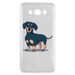 Чехол для Samsung J7 2016 Cute dachshund