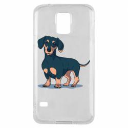Чехол для Samsung S5 Cute dachshund