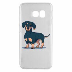 Чехол для Samsung S6 EDGE Cute dachshund