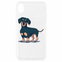 Чехол для iPhone XR Cute dachshund