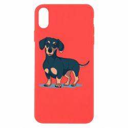 Чехол для iPhone Xs Max Cute dachshund