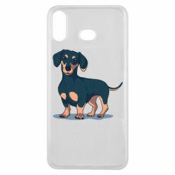 Чехол для Samsung A6s Cute dachshund