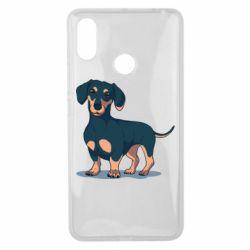 Чехол для Xiaomi Mi Max 3 Cute dachshund