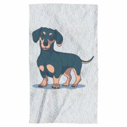 Полотенце Cute dachshund