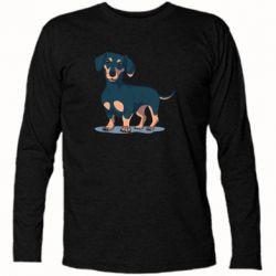 Футболка с длинным рукавом Cute dachshund