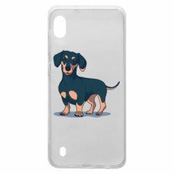 Чохол для Samsung A10 Cute dachshund