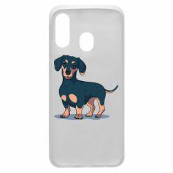 Чохол для Samsung A40 Cute dachshund