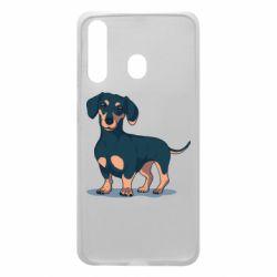 Чохол для Samsung A60 Cute dachshund