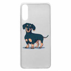 Чехол для Samsung A70 Cute dachshund