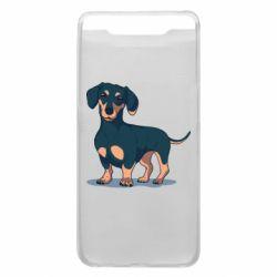 Чехол для Samsung A80 Cute dachshund