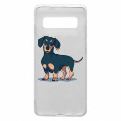 Чехол для Samsung S10 Cute dachshund