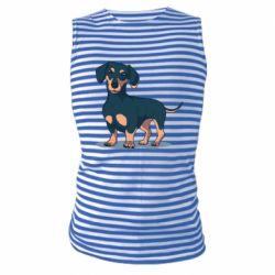 Майка-тельняшка Cute dachshund