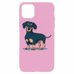 Чехол для iPhone 11 Cute dachshund