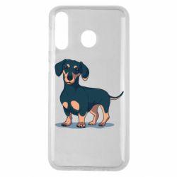 Чехол для Samsung M30 Cute dachshund