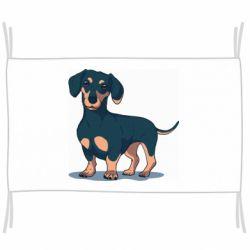 Флаг Cute dachshund