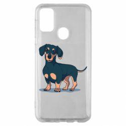 Чехол для Samsung M30s Cute dachshund