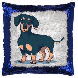 Подушка-хамелеон Cute dachshund