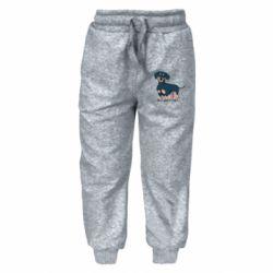Дитячі штани Cute dachshund