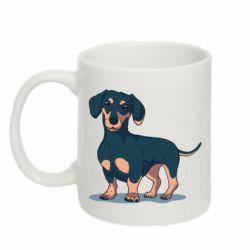 Кружка 320ml Cute dachshund